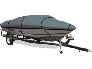 Aqua Armor Gray Boat Cover: Fits Center Console VHull Gray Boats 16-ft to 18-ft