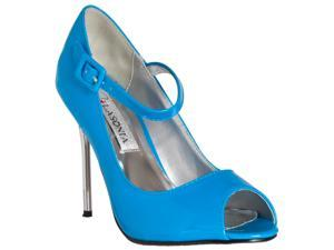 Riverberry Womens Peep Toe Mary Jane Style Stiletto Heels, Blue, Size 7