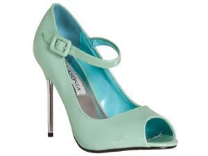 Riverberry Womens Peep Toe Mary Jane Style Stiletto Heels, Mint, Size 8