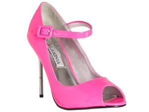 Riverberry Womens Peep Toe Mary Jane Style Stiletto Heels, Fuchsia, Size 6
