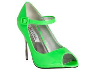 Riverberry Womens Peep Toe Mary Jane Style Stiletto Heels, Green, Size 5