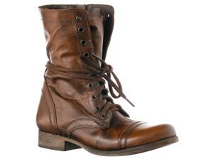 Steve Madden Women's 'Troopa' Leather Boots, Brown, Size 10