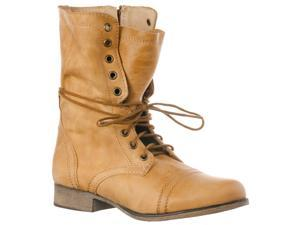 Steve Madden Women's 'Troopa' Leather Boots, Camel, Size 6.5