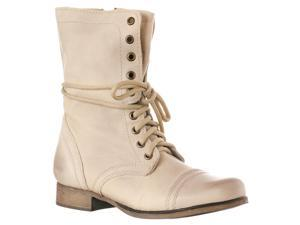 Steve Madden Women's 'Troopa' Leather Boots, Beige, Size 7.5
