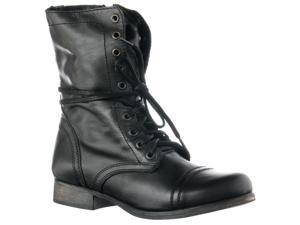 Steve Madden Women's 'Troopa' Leather Boots, Black, Size 5.5