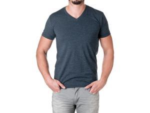 Next Level Apparel Men's Premium Cotton Blend V-Neck Shirt, Midnight Navy, Size Small