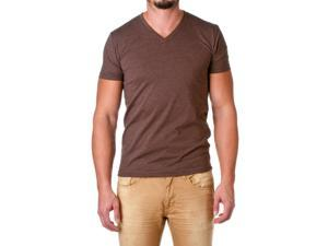 Next Level Apparel Men's Premium Cotton Blend V-Neck Shirt, Espresso, Size Medium