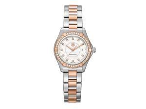 Tag Heuer Aquaracer Pearl Dial Steel & 18kt Rose Gold Watch WAP1452.BD0837