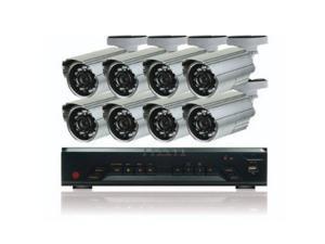 16 Ch H.264 DVR W/1TB + 8 Fixed Lens Bullet Cameras, Security Surveillance Kit