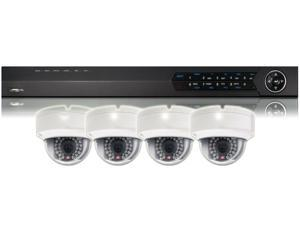 BV Tech 4CH Realtime NVR w/ Four 1.3MP IP Camera Surveillance Security System Kit
