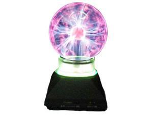 Creative Motion Plasma Ball with Neon Ring, 4-Inch