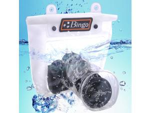 Bingo Waterproof Big SLR Tele Lens TPU Underwater Housing Bag Case Pouch w/ Clip