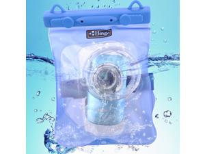 Bingo Waterproof Dry Bag fr Camera DSLR Lens Protector Underwater w/ Clip Blue