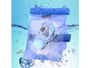 Bingo Waterproof Dry Bag fr Camera Short Lens Protector Underwater w/ Clip Blue