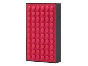 4200mAh Universal Power Bank Dual USB Ports Rechargeable External Battery (Black Red)