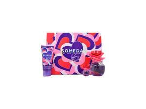 Someday By Justin Bieber - 3 pc Gift Set For Women 3.4oz EDP Spray| 3.4oz Touchable Body Lotion| 0.25oz Parfum Mini