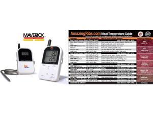 Maverick ET732 Wireless Grill/Meat/BBQ Thermometer + Meathead Temperature Magnet