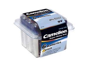 Camelion 6F22 1.5V 450mAh Heavy Duty Battery 6pk Plastic Tub FAST USA SHIP