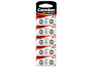 10pk Camelion AG13-BP10 1.5 Volt Alkaline Button Cell Watch Battery