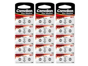 3x 10pk Camelion AG11-BP10 1.5 Volt Alkaline Button Cell Watch Battery