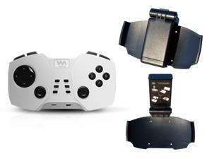 Viaplay Mobile Bluetooth Gaming Controller Via-Gamepad F2 for Android Smart Phones, iPhone, iPad, Tablets, PC and Mac - White