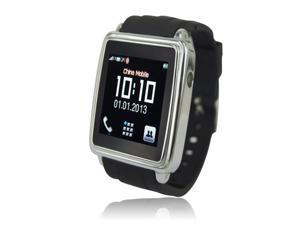 Smart bluetooth watch phone sync calling and SMS  for android system phone -black color