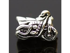 925 Sterling Silver Motorcycle European Charm Bead fit Pandora Snake Bracelet/Necklace