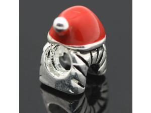 Red Christmas hats European Charm 925 Sterling Silver Bead fit Pandora Bracelet Necklace Chain