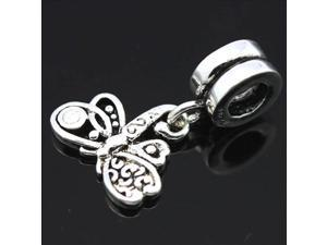 Dragonfly Pendant 925 Sterling Silver European Charm Bead for Pandora Bracelet Necklace Chain