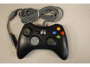ECSEM Replacement Wired USB Controller for PC & Xbox 360 (Black)