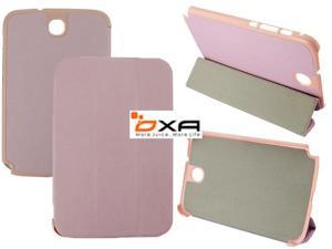 2014 New Style Sleep Leather Smart Case Stand Cover For Samsung Galaxy Note 8.0 N5100 N5110 (3 Folded) -Pink