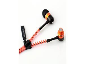 KingTime Orange 3.5mm plug in-ear stereo zip metal earphones for iphone, ipod, ipad,samsung  stereo Headphone,earphone