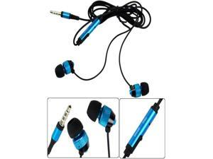 New Universal 3.5mmBlue Stereo In-ear Earphones Earbuds  For HTC iPhone Samsung