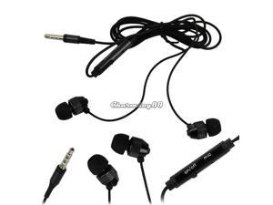 New Popular Black Headphone 3.5mm Earphone In-Ear Stereo Headset For iPhone HTC
