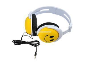 New Smile Face Lovely Yellow Headphones Earphones Headset for MP3 PSP DJ