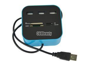 Hot Multi-card Reader with 3 ports USB 2.0 HUB for SD/MMC/M2/MS/ MP Pro Duo