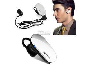 Wireless White Stereo Bluetooth Headset Earphone Headphone for Cell Phone White