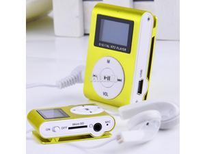 New 16GB Clip Slim Mp3 Player LCD Screen FM Radio With Earphone