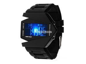 Fashion Light Digital Sports Quartz Silicone LED Wrist Watch Men's Boy's Watch
