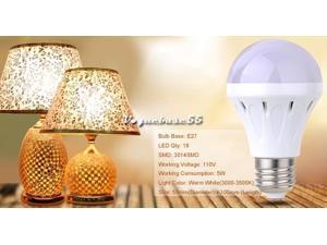 AC 110V 5W18LED E27 Energy Efficient Led Lamp Bulb Super Bright Warm White