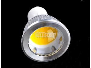 High Quality Warm White 3W GU10 COB LED Spot Light Dimmable Bulb 85V-265V