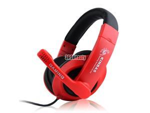 New Headset Microphone Earphone with 3.5mm Stereo Headphone for PC Laptop MP3
