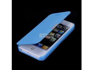 Blue Magnetic Flip Leather Hard Pouch Wallet Case Cover For iPhone 5 5S 5G