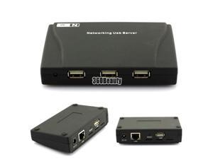 New 4 Ports USB HUB Lan Network Server for PC HDD Webcam Printer Scanner