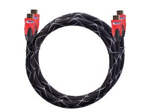 ForsparkBasics High Speed HDMI Cable With Ethernet (6 Feet/ 2Meters),PVC Red Case,HDMI Connector A To A Type,Support HDMI ...