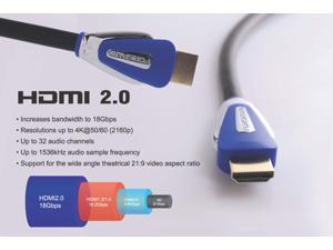 Forspark Prime 32Feet HDMI Cable 2.0 Version with Ethernet, Metal Blue Case, Connector A To A Type, Support 18Gbps, Audio ...