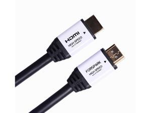 FORSPARK High Speed Ultra Short HDMI Cable 15ft with Ethernet ,Full HD, Supports 4K, 3D, 1080p Full HD Latest Version, White ...