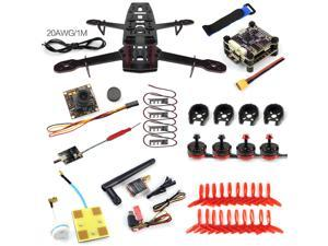 DIY FPV Racer Drone 250 Glass Fiber Frame PNP S-Tower Flight Control with 700TVL Cam Frsky X9D S.BUS TX 2300KV Motor