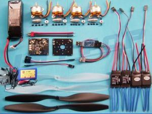 KK 4 Axis quad Copter UFO ARF:V5.5 ESC Circuit board,Program USB+A2212 1000KV Motor+25A ESC+Lipo battery+Blades