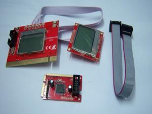 Dual LCD Mini PCI-E PCI LPC Diagnostic Analyzer Post Test Debug Cards For Motherboard